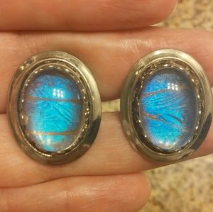 Other - Vintage Morpho Butterfly Cufflinks