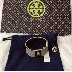 Tory Burch Bracelet Skinny Leather Inlay BNWT New