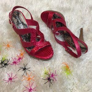 Gianni Bini metallic pink heels