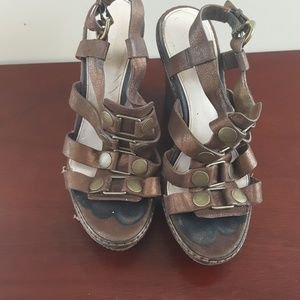 Bronze Brown Mallorie Passion Coach wedge sandals