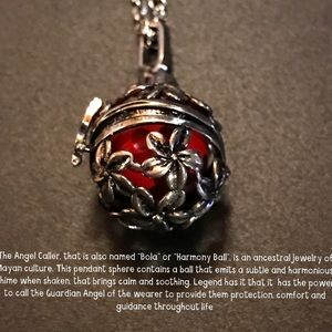 Silver Cage Angel Caller Necklace Pendant