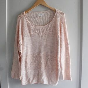 LOU & GREY peach sweater