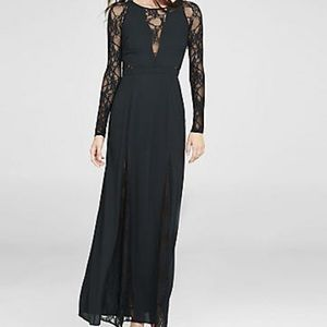 Lace black maxi dress by Express