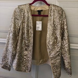 Sequined gold jacket