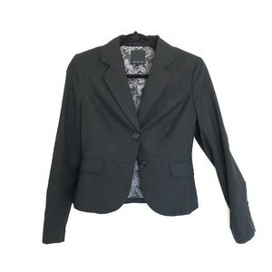 Black Fitted Suit Jacket - NEVER WORN!