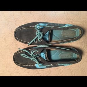 Sperry Blue Lace Up Boat Shoes Size 8.5
