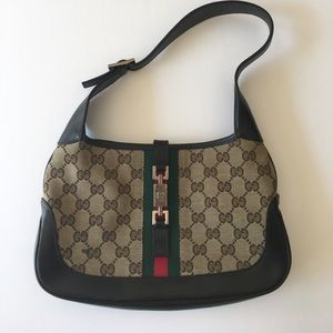 Authentic Gucci Jackie O Brown Classic Hobo Bag