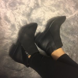 White Mountain Shoes - Black Booties