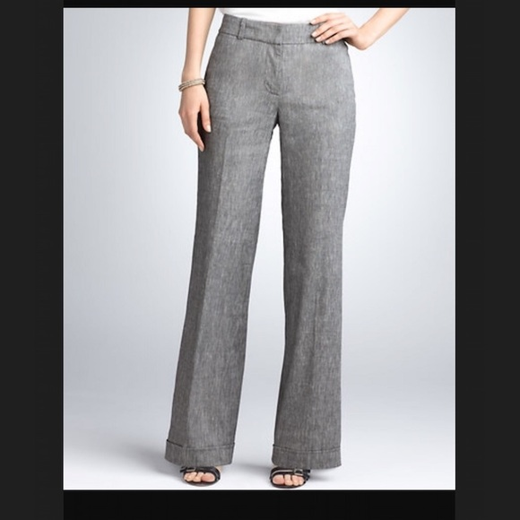 a1916299c7e87a Ann Taylor Pants - Ann Taylor Signature Wide Leg Peppered Tweed Pant