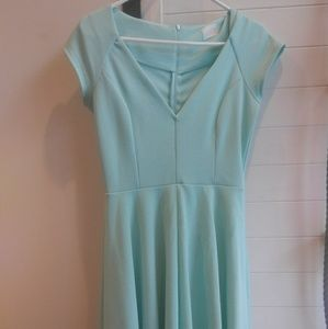 Modcloth: Name the Date A Line Dress in Mint