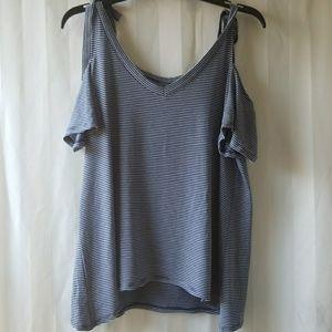 a.n.a. cold shoulder top