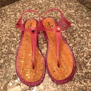 Brand New Never Worn Kate Spade Pink Jelly Sandal
