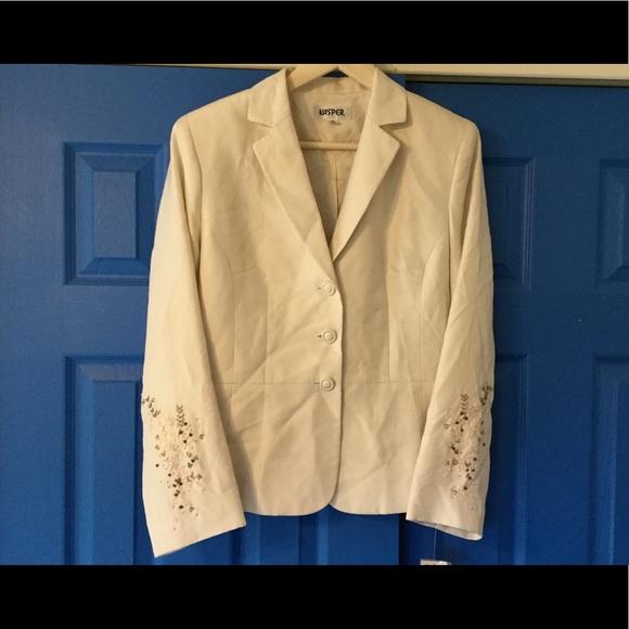 1d3a54c379b Kasper blazer career wear embroidered