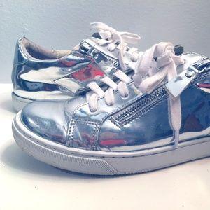 Holographic Steve Madden Zip Sneakers