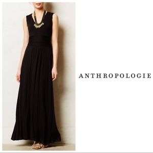 Anthropologie Black Capuchina Tie Back Maxi