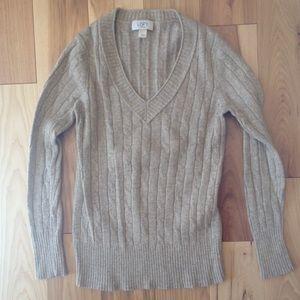 Ann Taylor loft gold sparkle sweater