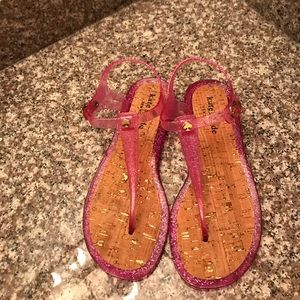 Brand New Never Worn Kate Spade Jelly Pink Sandal