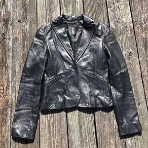 BCBG Max size XS Leather modern cut jacket