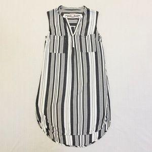 Merona Striped High Low Midi Dress