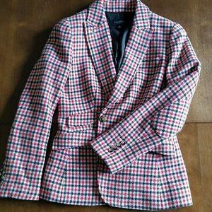 Wool checked blazer, Talbots brand