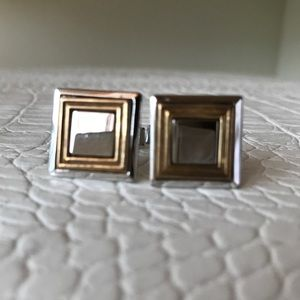 Cuff links stainless steel with true Gold