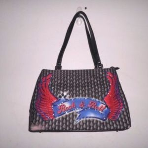 Isabella Fiore Swarovski Trim Rock & Roll Bag