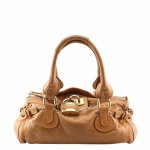 Chloe Paddington Tan Leather Satchel (136335)