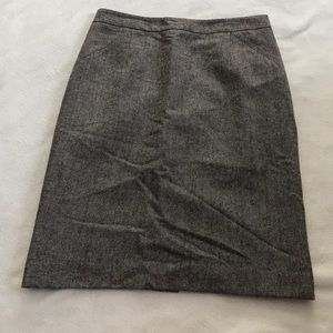 Ann Taylor Brown Tweed Wool Blend Pencil Skirt