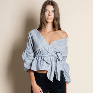 Wrap Striped Top