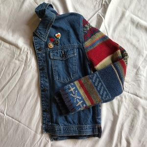 vintage denim sweater jacket by Norm Thompson