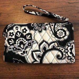 Vera Bradley Black and White Wristlet Wallet
