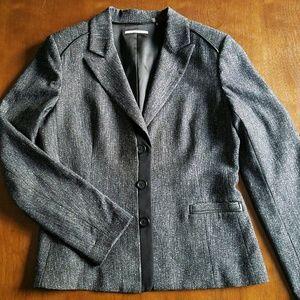 Grey blazer w/ blk stitching