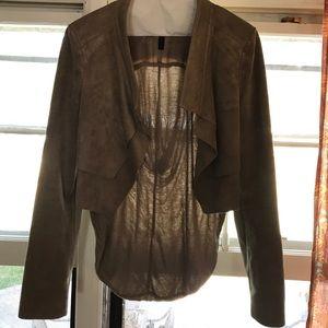 BCBGMAXAZRIA cropped drapey jacket