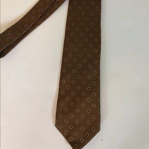 Brooks Brothers Brown Silk Print Necktie 👔