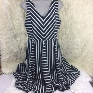 Saturday and Sunday blue striped day dress
