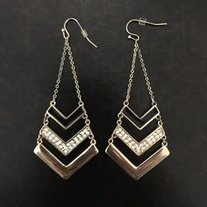 Express Earrings :: Gold and Black
