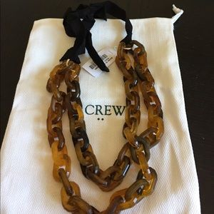 NWT J.Crew tortoise shell link necklace