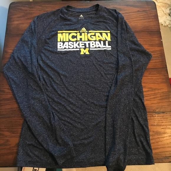 adidas Other - Adidas Michigan Basketball Climalite Long Sleeve 5e6c23b28
