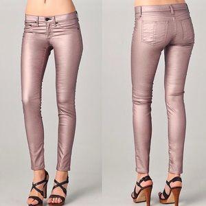 Champagne Metallic Legging Jeans