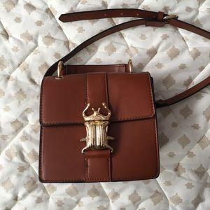 Zara Brown Beetle Bag