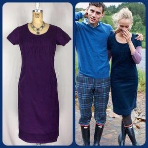 BODEN Purple Corduroy Short Sleeve Jumper 4 Long