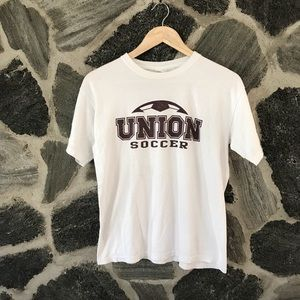 vintage | white UNION COLLEGE SOCCER t-shirt