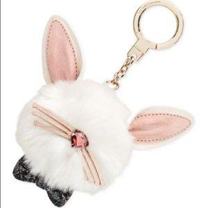 Kate Spade Make Magic Rabbit Bunny Pouf Keychain