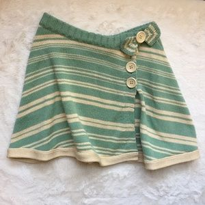 Odille Striped Sweater Knit Wrap Skirt