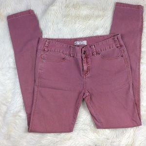 Free People Pink Skinny Jeans sz 27 Dusty Rose