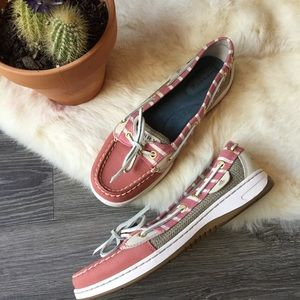 Sperry red angelfish boat shoe nwot