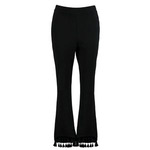 Boohoo Pants - Black Tassel Detail Pants