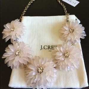 NWT J.Crew Dahlia Burst necklace, pale pink