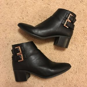 Pointy Toe Black Booties