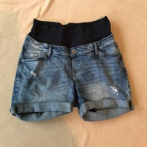 H&M maternity jean shorts